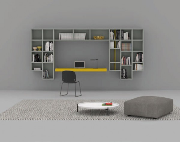 Living composition Spazioteca collection SP123