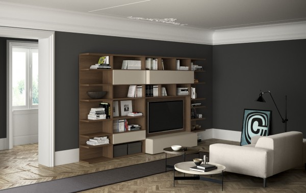 Living composition Spazioteca collection SP011