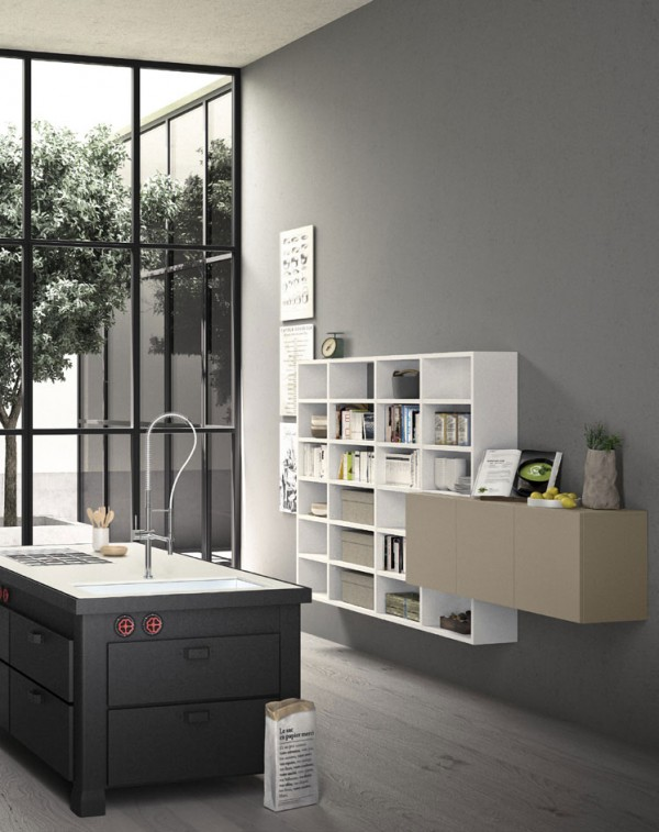 Living composition Spazioteca collection SP019